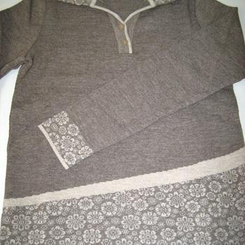 pull polo dame avec laine en taupe 42/44 46/48 - belle qualité !