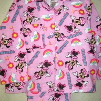 pyjama boutonné flanelle pour fille de 1 à 4 ans - minnie
