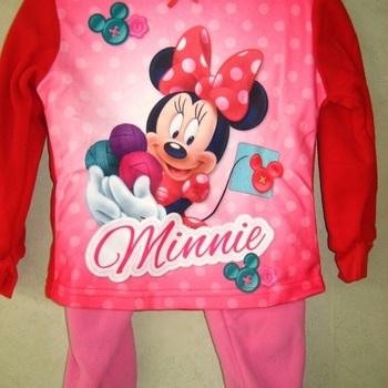 pyjama polaire pour fille minnie rouge rose - reste 2 ans 4 ans 6 ans
