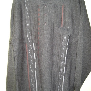 pull polo pour homme - classique anthracite