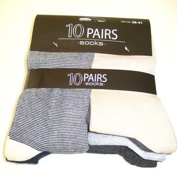 chaussettes pointure 36/41 avec du coton - 10 paires pour 8€