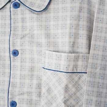 pyjama boutonné flanelle pour homme - # gris clair biais - reste M