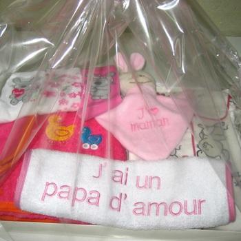 pack cadeau de naissance petite fille rose