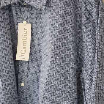 chemise longues manches pour homme - cambier marine reste L