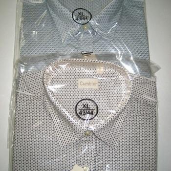 chemise longues manches cambier pour homme - grandes tailles - marron ou bleu 3XL