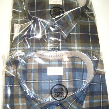 chemise flanelle imprimée pour hommes - grandes tailles - 49/50