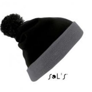 bonnet noir gris sol's