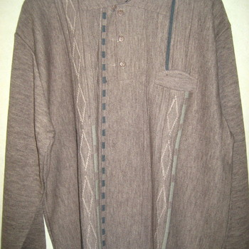 pull polo pour homme - lubu taupe - 30% laine