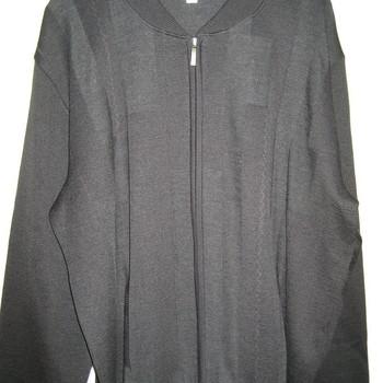 gilet tirette pour homme - grandes tailles - avec 50% laine - noir ou prune (rhodamel)