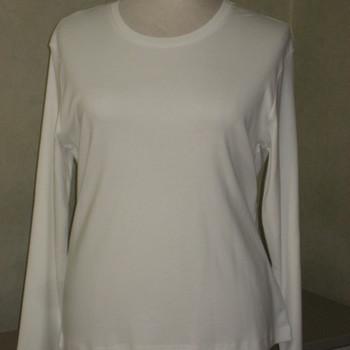 t-shirt longues manches coton lourd HS uni blanc 48/50