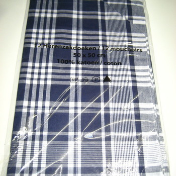 mouchoirs en coton extra grand - 12 pour 10.50€
