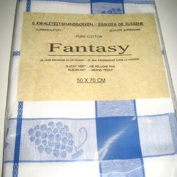 essuies de vaisselle 100% coton - fantasy - 50*70 cm - 6 pour 10.80€