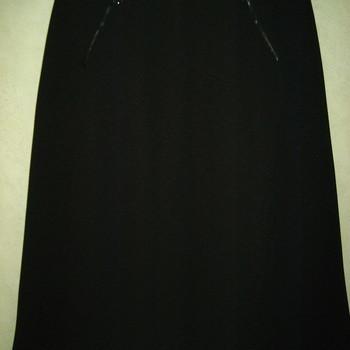 jupe noire lourde mi-mollet pour dame - aussi de grandes tailles