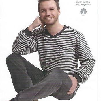 pyjama velours rasé V == pour homme - 2 coloris