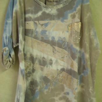 t-shirt longues manches retroussable délavé en grandes tailles pour dame EN PROMO 46/52
