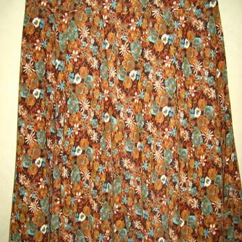 jupe tricot pour dame jusque taille 56 - imprimée dans les rouilles