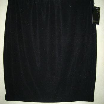 jupe droite lycra noir paillettes avec taille élastique 38/46