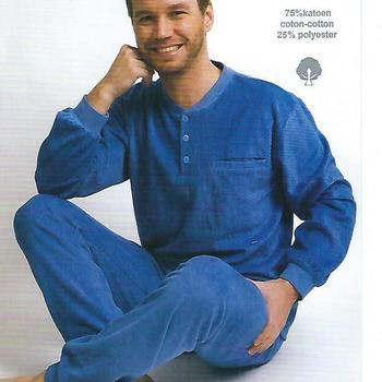 pyjama velours rasé pour homme - bleu