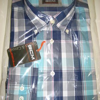 chemise longues manches # turquoise 41/42 pour homme