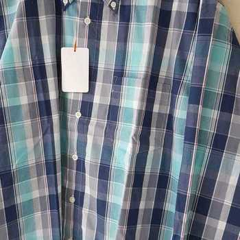 chemise longues manches # turquoise pour homme - reste L