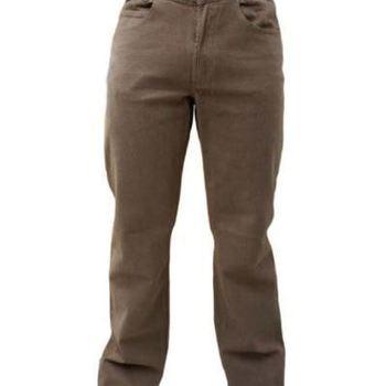 pantalon 5 pocket strech velours peau de pêche pour homme - aussi de grandes tailles en gris ou noir - PROMO