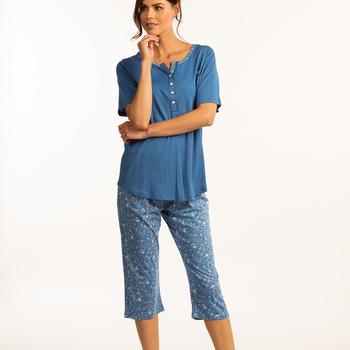 pyjama corsaire coton modal pour dame - iry - aussi de grandes tailles