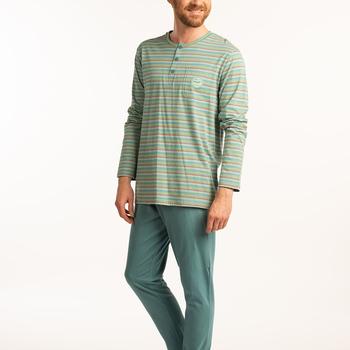 pyjama coton jersey 3 boutons pour homme - whale watching - reste XL - XXL - 3XL