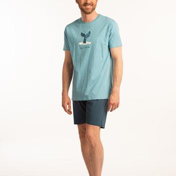 pyjashort coton jersey pour homme - baleine