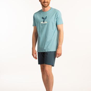 pyjashort coton jersey pour homme - whale reste S - M