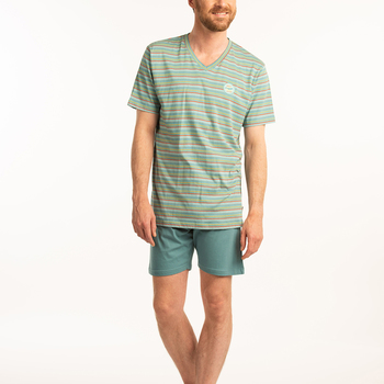 pyjashort coton jersey pour homme - == vert aussi de grandes tailles V