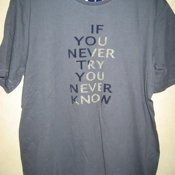 t-shirt courtes manches coton pour homme - if you never
