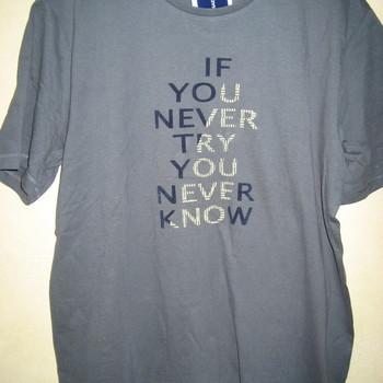 t-shirt courtes manches coton pour homme - grandes tailles - if you never - gris 6XL