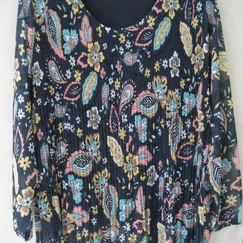 blouse plissée pour dame - différents imprimés