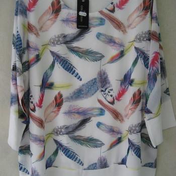 blouse avec plumes pour dame - différents coloris