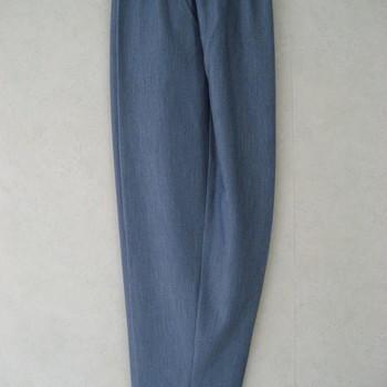 pantalon taille élastique avec boutons fantaisie aux poches - bleu jeans n° 3 - 7