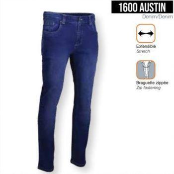 jeans strech pour homme - austin - taille belge 38 à 60