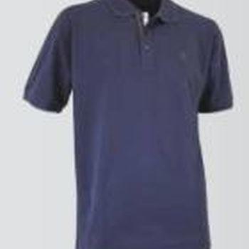 polo courtes manches piqué pour homme - bleu ou gris