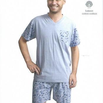 pyjashort coton jersey pour homme - shark