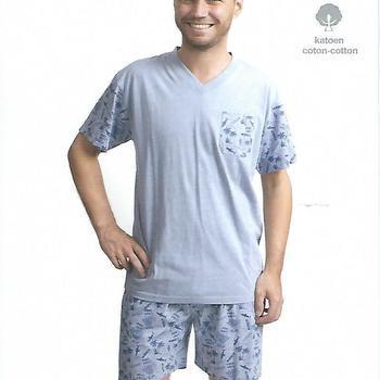 pyjashort coton jersey pour homme - shark jeans - M - L