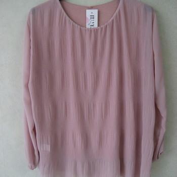 blouse voile cloqué pour dame - pétrole 46/52