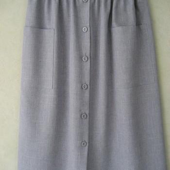 jupe boutonnée pour dame avec taille élastique - M/L & XL/XXL
