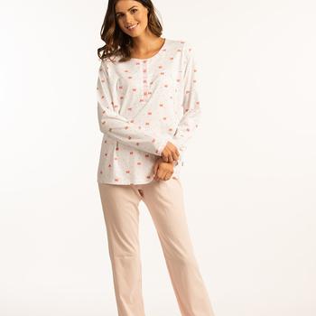 pyjama coton jersey boutonné pour dame - ambrette - aussi de grandes tailles