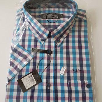 chemise courtes manches pour homme - grandes tailles - petits carreaux - 3XL - 4XL