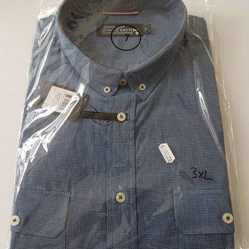 chemise courtes manches pour homme - grandes tailles - marine 3XL & 4XL