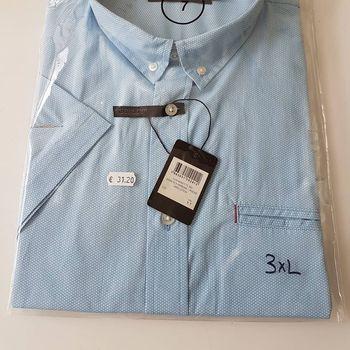 chemise courtes manches pour homme - grandes tailles - ciel 3XL & 4XL