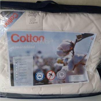couette été tout en coton - traité anti-moustique 2.40*2.20m pour lit de 2 personnes