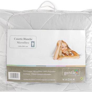 couette blanche microfibre 400g en 1.40*2m pour lit d'1 personne