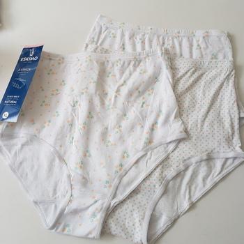 culottes coton annick pour dame - saumon/turquoise : 3 pour 6€