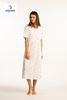 robe de nuit courtes manches coton pour dame - ambretta saumon L XL 3XL à partir de
