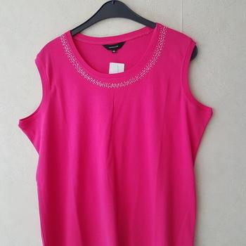 top coton fushia pour dame - 36-38-40-42-44-46-50